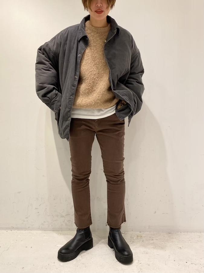 コーデュロイシンサレート CPO フリンジシャツ ¥39,800+tax